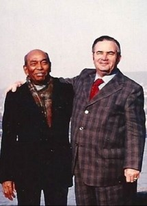Werner Daetwyler with his Indian friend Chakravorty